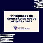 Inscrições abertas – Processo de admissão 2021